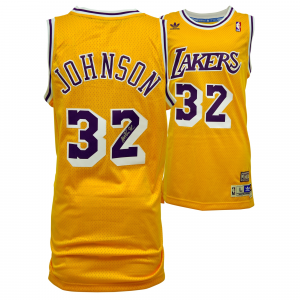 Magic Johnson Los Angeles Lakers Fanatics Authentic Autographed Adidas Swingman Yellow Jersey