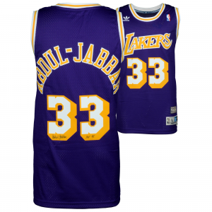 Kareem Abdul-Jabbar Los Angeles Lakers Fanatics Authentic Autographed Purple Swingman Jersey with HOF 95 Inscription