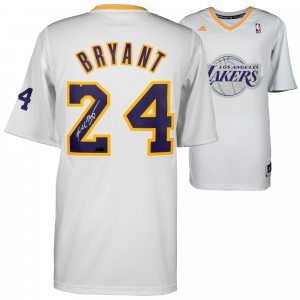 Kobe Bryant Los Angeles Lakers Autographed White Authentic Christmas Edition Jersey - Limited Edition of 24 - Panini
