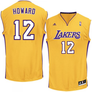 Dwight Howard Los Angeles Lakers adidas Replica Home Jersey - Gold