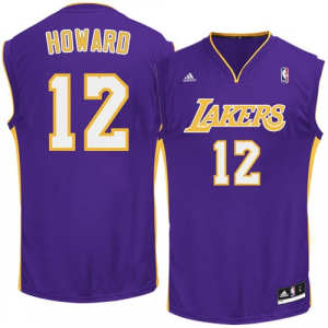 Dwight Howard Los Angeles Lakers adidas Replica Road Jersey - Purple