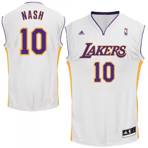 Steve Nash Los Angeles Lakers adidas Replica Alternate Jersey - White