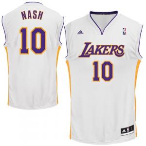 Steve Nash Los Angeles Lakers adidas Replica Alternate Jersey - White