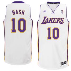 Steve Nash Los Angeles Lakers adidas Swingman Alternate Jersey - White
