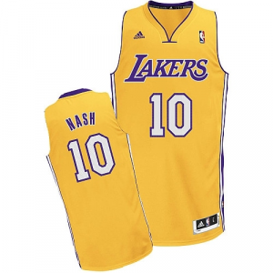 Steve Nash Los Angeles Lakers adidas Youth Swingman Home Jersey - Gold
