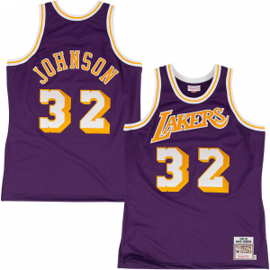 Mitchell & Ness Los Angeles Lakers Magic Johnson 1984-85 Hardwood Classics Authentic Road Jersey