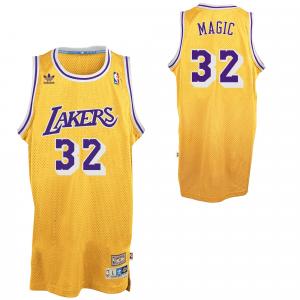 adidas Magic Johnson Los Angeles Lakers Magic Soul Swingman Nickname Jersey - Gold