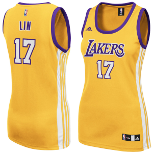 Jeremy Lin Los Angeles Lakers adidas Women's Replica Home Jersey - Gold