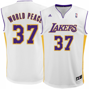 Metta World Peace Los Angeles Lakers adidas Replica Jersey - White