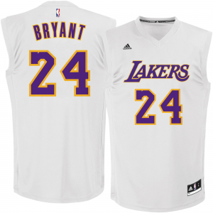 Kobe Bryant Los Angeles Lakers adidas Chase Fashion Replica Jersey - White Alternate