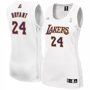 Kobe Bryant Los Angeles Lakers adidas Women's Fashion Replica Jersey - White
