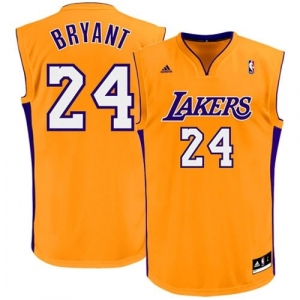 Kobe Bryant Los Angeles Lakers adidas Replica Home Jersey - Gold Home