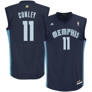 Mike Conley Memphis Grizzlies adidas Youth Replica Road Jersey - Navy Blue