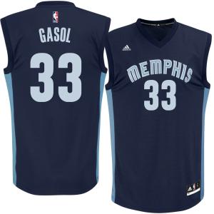 Marc Gasol Memphis Grizzlies adidas Replica Jersey - Navy Blue
