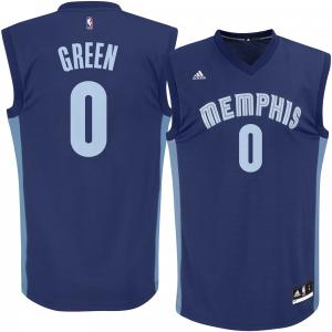 Men's adidas JaMychal Green Navy Memphis Grizzlies Replica Jersey