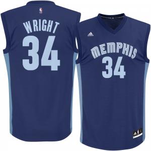 Men's adidas Brandan Wright Navy Memphis Grizzlies Replica Jersey