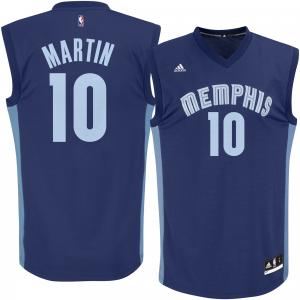 Men's adidas Jarell Martin Navy Memphis Grizzlies Replica Jersey