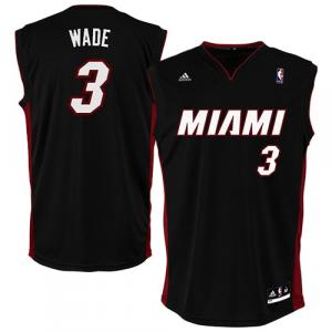 Dwyane Wade Miami Heat adidas Replica Road Jersey - Black