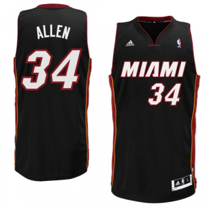 Ray Allen Miami Heat adidas Swingman Road Jersey - Black