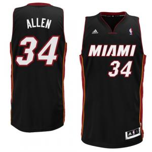 Ray Allen Miami Heat adidas Swingman Road Jersey - Black