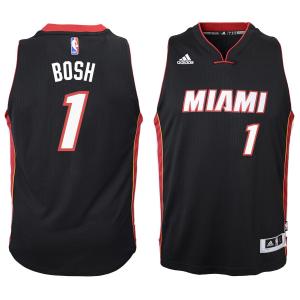 Chris Bosh Miami Heat adidas Youth 2014-15 New Swingman Road Jersey - Black