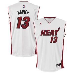 Shabazz Napier Miami Heat adidas Home Replica Jersey - White