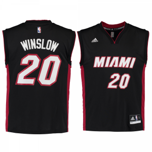 Justise Winslow Miami Heat adidas Road Replica Jersey - Black
