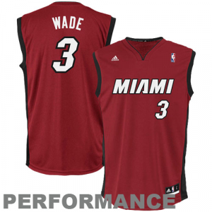Dwyane Wade Miami Heat adidas Replica Alternate Jersey - Red