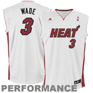 Dwyane Wade Miami Heat adidas Replica Home Jersey - White