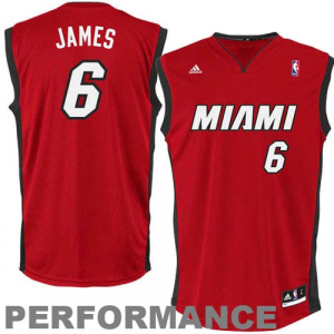 LeBron James Miami Heat adidas Youth Swingman Alternate Jersey - Red