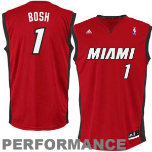 Chris Bosh Miami Heat adidas Youth Swingman Alternate Jersey - Red