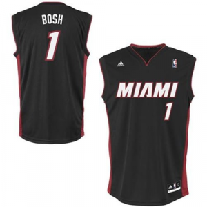 Chris Bosh Miami Heat adidas Replica Road Jersey - Black