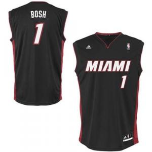 Chris Bosh Miami Heat adidas Replica Road Jersey - Black