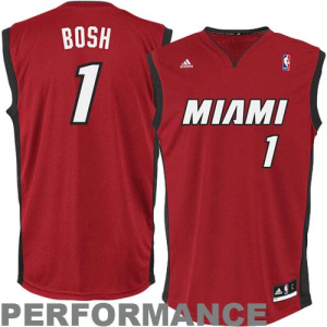Chris Bosh Miami Heat adidas Replica Alternate Jersey - Red