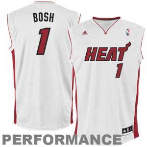 Chris Bosh Miami Heat adidas Replica Home Jersey - White Home
