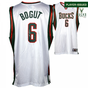 Andrew Bogut Milwaukee Bucks Fanatics Authentic Autographed Player-Issued White #6 Jersey used during the 2008-2009 Season - Size 52