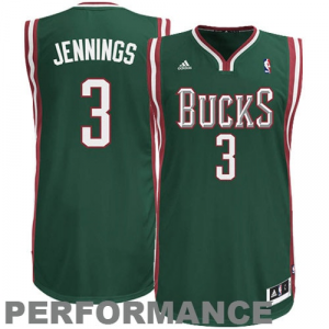Brandon Jennings Milwaukee Bucks adidas Swingman Road Jersey - Green