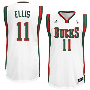 Monta Ellis Milwaukee Bucks adidas Swingman Home Jersey - White