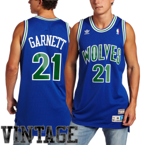 adidas Kevin Garnett Minnesota Timberwolves Youth Hardwood Classics Replica Jersey - Royal Blue