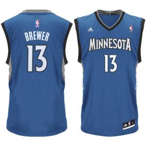 Corey Brewer Minnesota Timberwolves adidas Youth Boy's Replica Jersey - Blue