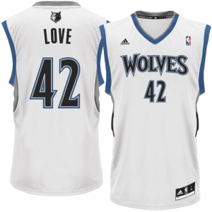 Kevin Love Minnesota Timberwolves adidas Replica Home Jersey - White