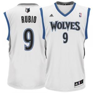 Ricky Rubio Minnesota Timberwolves adidas Replica Home Jersey - White Home