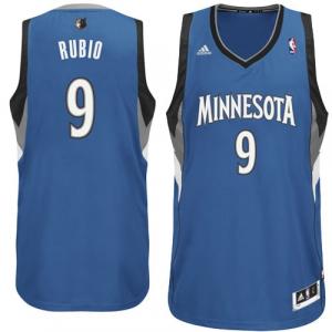 Ricky Rubio Minnesota Timberwolves adidas Swingman Road Jersey - Slate Blue