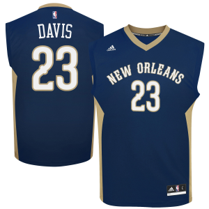 Anthony Davis New Orleans Pelicans adidas Replica Road Jersey - Navy Blue