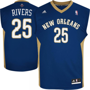 Austin Rivers New Orleans Pelicans adidas Replica Road Jersey - Navy Blue