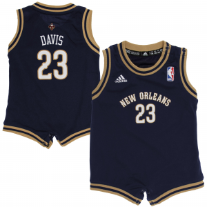 Anthony Davis New Orleans Pelicans adidas Infant Replica Jersey Romper - Navy Blue