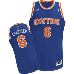 Tyson Chandler New York Knicks adidas Swingman Road Jersey - Royal Blue