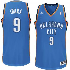 Serge Ibaka Oklahoma City Thunder adidas Swingman Jersey - Light Blue