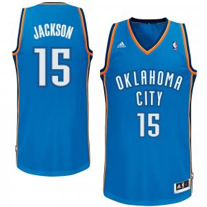 Reggie Jackson Oklahoma City Thunder adidas Swingman Jersey - Light Blue