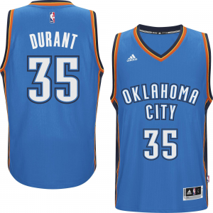 Kevin Durant Oklahoma City Thunder adidas Player Swingman Road Jersey - Blue